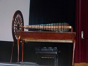 Glass harmonica - A modern glass armonica built using Benjamin Franklin's design