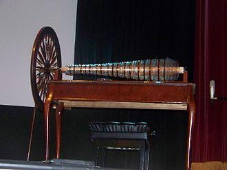 Glass harmonica - A modern glass armonica built using Benjamin Franklin's design