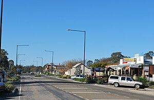 Glenrowan, Victoria - Main street of Glenrowan