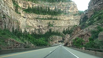 Glenwood Canyon - I-70 (westbound) through Glenwood Canyon.