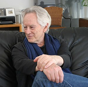 "Michael McClure - Photograph by Gloria Graham during the video taping of ""Add-Verse"", 2004"