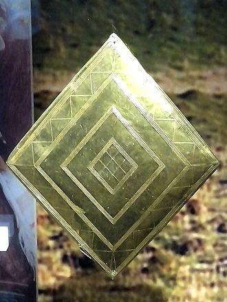 Normanton Down Barrows - Gold lozenge from Bush Barrow