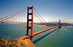A photograph of Golden Gate Bridge