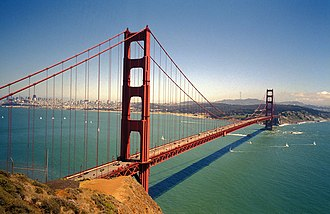 U.S. Route 101 in California - The Golden Gate Bridge, which carries US 101 and SR 1 between San Francisco and Marin County