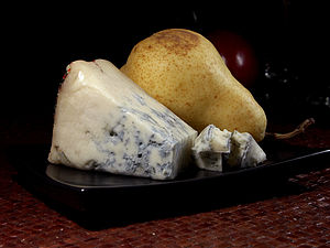 Blue cheese - Gorgonzola, a veined blue cheese from Italy