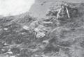 Grab mit ǧinn und Speisenäpfen Kaschgar Le Coq 1916 Tafel 1 Figur 4.png
