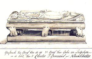 Otto II, Count of Guelders - Drawing of the tomb for Otto II of Guelders