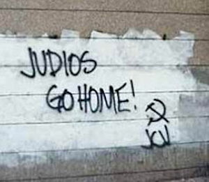 English: Antisemitic graffiti in Venezuela