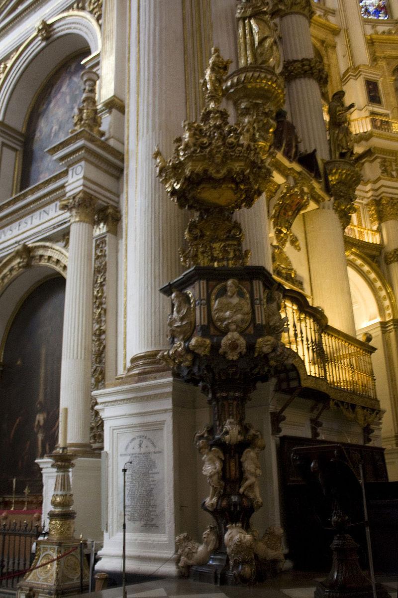 Granada-Catedral-Púlpito I.jpg