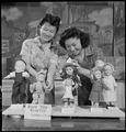 Granada Relocation Center, Amache, Colorado. Girls' Reserves Victory Dolls. Jane Nagai, left, and . . . - NARA - 539300.tif