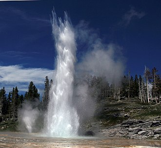 Grand Geyser - Image: Grand geyser and vent geyser in Yellowstone National park