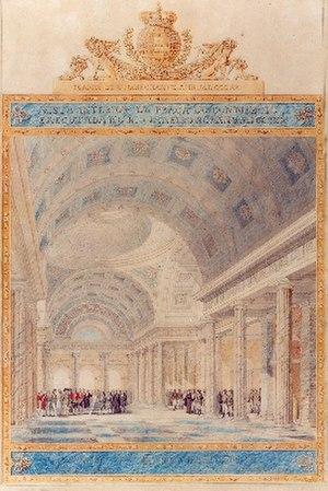 Auguste-Henri-Victor Grandjean de Montigny - Image: Grandjean de Montigny Vista do interior da Praça do Comércio