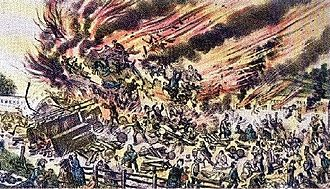 Great Train Wreck of 1856 - Artist's impression