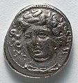 Greece, Thessaly, 4th century BC - Drachma- Fountain Nymph Larissa (obverse) - 1916.988.a - Cleveland Museum of Art.jpg