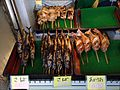 Grilled seafood at Teradomari Fish Market Street 02.jpg