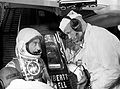 Grissom talks to backup John Glenn before launch MSFC-6116427.jpg