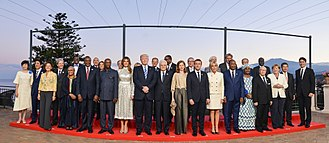 43rd G7 summit - Official photo of the dinner with the President of Italy