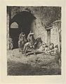 Guards on horseback at the entrance to the Kasbah in Tetuan, figures sitting on the ground MET DP854198.jpg