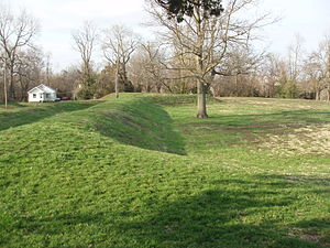 Fort D, Cape Girardeau, Missouri, Gun Pits