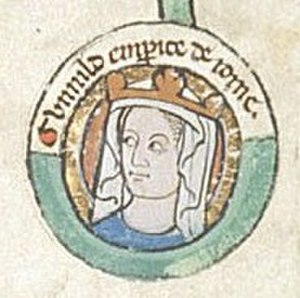 Gunhilda of Denmark - 13th century portrait