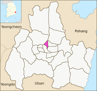 Hwangseong-dong, Gyeongju - Image: Gyeongju map Hwangseong dong 01