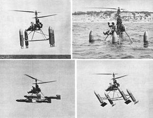 Gyrodyne RON Rotorcycle - Gyrodyne RON Rotorcycle making a water landing