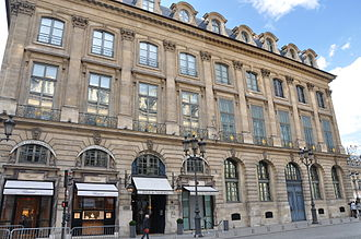 Republic of Texas - The Hôtel Bataille de Francès (now Hôtel de Vendôme), place Vendôme in Paris, housed the Embassy of the Republic of Texas
