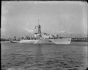 HMNZS Taupo (F423) - Image: HMS Loch Shin 1944 IWM FL 6056