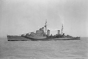 HMS Sirius (82) - Image: HMS Sirius 1942 IWM FL 5263