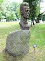 H Mieczysław Karłowicz head sculpture in Radziejowice manor park.jpg