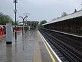 Hainault station platform 2 look north.JPG
