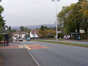 Old Hill -  The approach to Old Hill from Haden Hill.