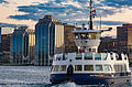 Halifax-Dartmouth Ferry - Halifax Skyline Sunset (22756203545).jpg