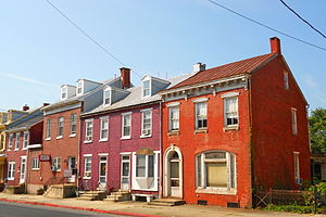 Hamburg, Pennsylvania - Houses on Fourth Street