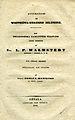 Hamilton, Anteckningar om Westgöta-bergens bildning (1845) title page.jpg
