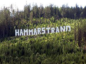 Hammarstrand - Image: Hammarstrand sign