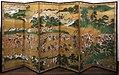 Hanabusa ippoo, coppia di paraventi con scene di caccia, 1730-60 ca. 02.jpg
