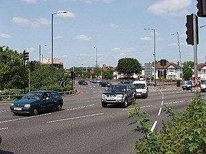 Hanger Lane gyratory - The northern side of the junction