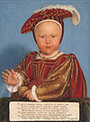 Hans Holbein the Younger - Edward, Prince of Wales, later King Edward VI - Google Art Project.jpg