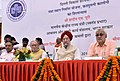 Hardeep Singh Puri and the Lt. Governor of Delhi, Shri Anil Baijal at the foundation stone laying ceremony of the In-situ Slum Redevelopment project in Kathputli Colony, New Delhi.JPG