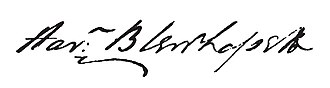 Harman Blennerhassett - Image: Harman Blennerhassett signature