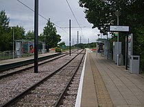 Harrington Road tramstop look north.JPG