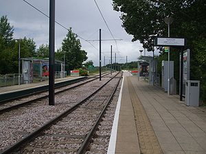 Harrington Road tram stop - Harrington Road tramstop looking north