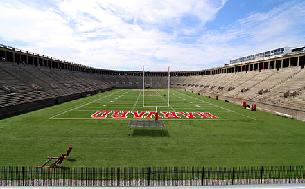 Harvard Stadium, home of Harvard Crimson and the Boston Cannons Harvard stadium 2009h.JPG