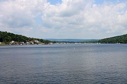 A view of Harveys Lake from the south
