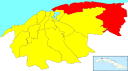 Location of Habana del Este in Havana