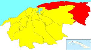 Habana del Este - Image: Havana Map Habana del Este