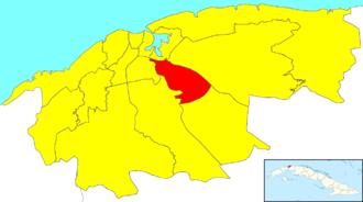 San Miguel del Padrón - Image: Havana Map San Miguel del Padrón