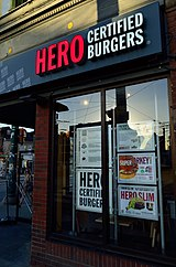 A Hero Certified Burgers storefront in Toronto