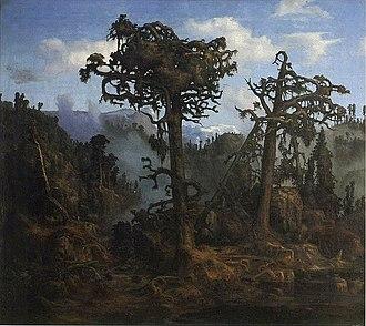 Lars Hertervig - Image: Hertervig Gamle furutrær